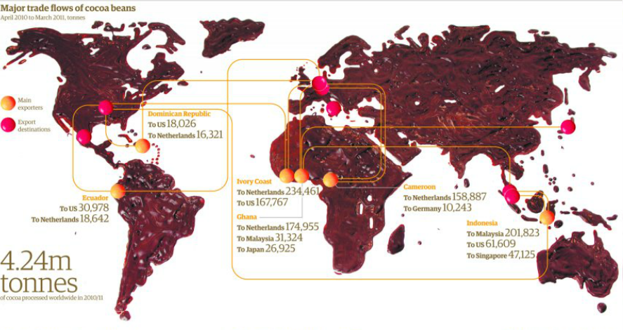 Africa Map Make Countries What Chocolate