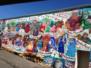 Gorgeous mural honoring Portland's women history makers.